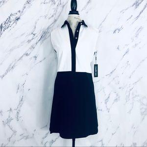 Karl Lagerfeld Colorblock Shirt Dress NWT